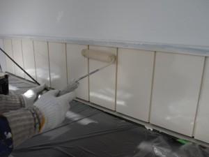 現場では外壁に塗った色の変化や質感も確認できます。